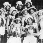 Chorus girls of the musical revue Chocolate Kiddies at the Admiralspalast in Berlin, 1925