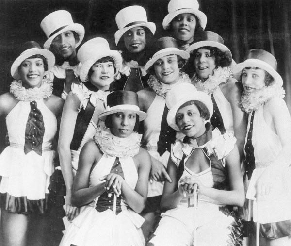 Chorus girls of the musical revue Chocolate Kiddies at the Admiralspalast in Berlin, 1925