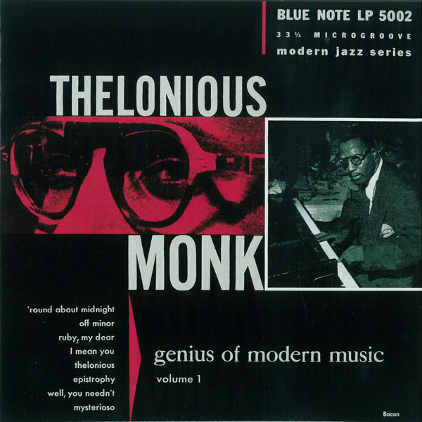 Thelonious Monk, Genius of Modern Music, Album Cover, 1951