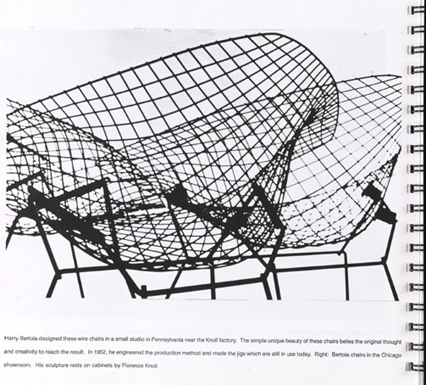 Wire Chairs Designed by Harry Bertoia for Knoll, 1952