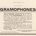 United States Gramophone Company Advertisement
