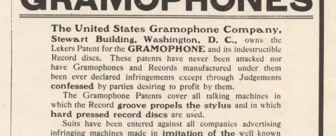 United States Gramophone Company Advertisement