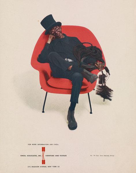 Knoll Associates Advertisement Featuring the No. 70 Chair by Eero Saarinen, 1950s-1960s