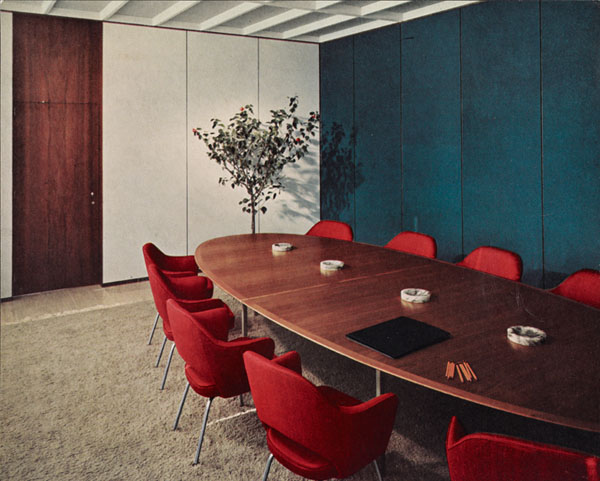 Connecticut General Building Conference Room Designed by Florence Knoll Bassett, ca. 1950