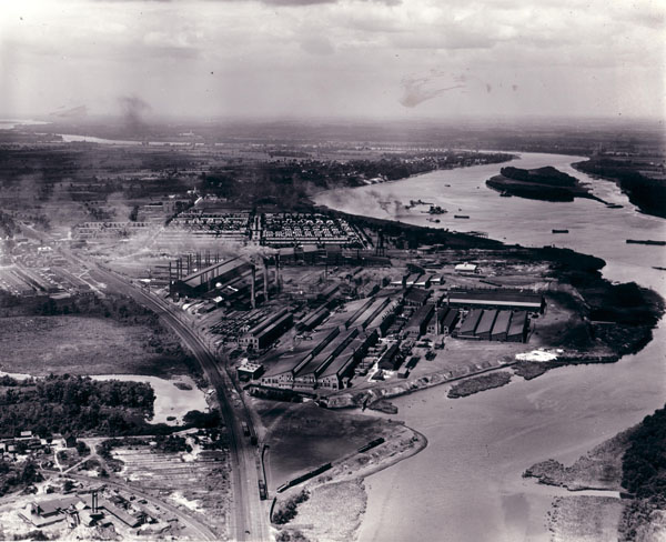 John Roebling's Sons Co. Manufacturing Plant, Roebling, NJ, View South, c. 1925.