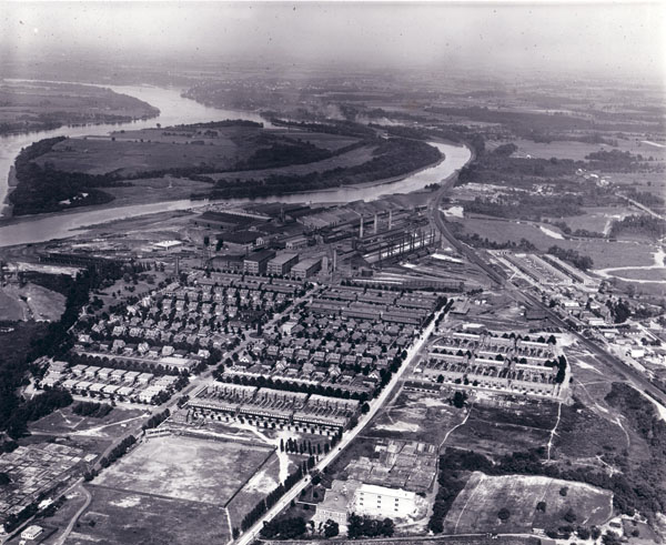 John Roebling's Sons Co. Manufacturing Plant, Roebling, NJ, View Northwest, c. 1925.