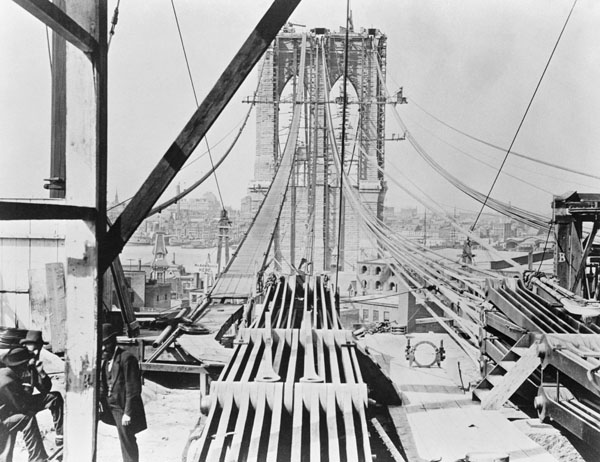 Brooklyn Bridge under Construction, c. 1875-78