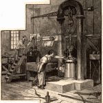 Hydraulic Press for Testing Steel Used in the Anchorage on the Brooklyn Bridge