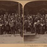President Theodore Roosevelt, Mrs. Roosevelt, and Guests at Wagener Pine Forest Inn, 1902