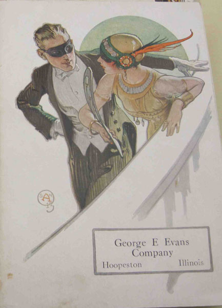 Hart, Schaffner & Marx Style Book Cover Devoted to Masquerade Balls, 1913