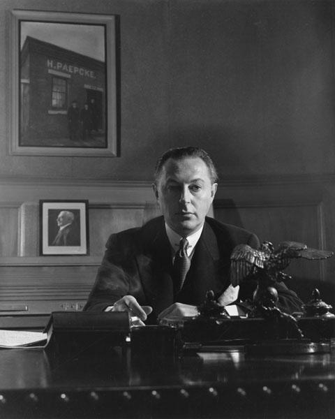 Walter Paepcke at his desk