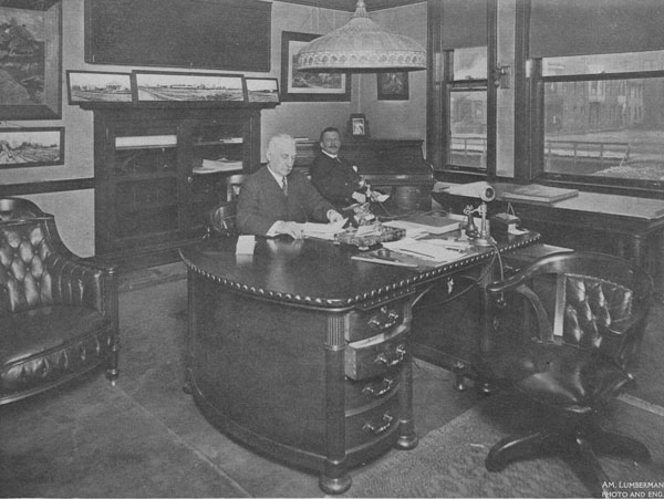 Hermann Paepcke at desk