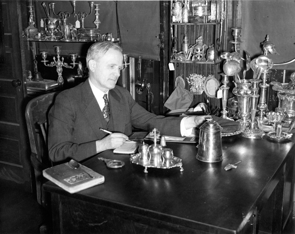 George Christian Gebelein at his desk