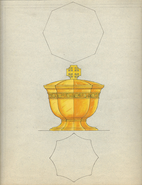 George Christian Gebelein's Design for Gold and Silver Ciborium