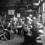 George Christian Gebelein's Workshop at 79 Chestnut Street, Boston, 1926