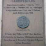 Plaque marking the birthplace of Charles August Fey
