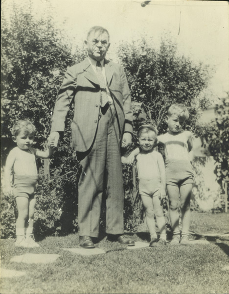 Charles Fey with his grandsons