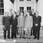 Harry Cohn and several other moguls at the White House, 1938