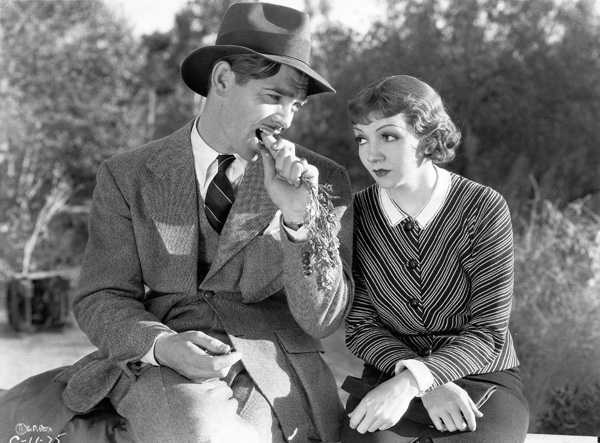 Clark Gable and Claudette Colbert in It Happened One Night, 1934
