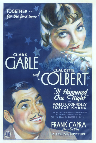It Happened One Night film poster, 1934