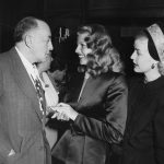 "Harry Cohn with his ""love goddess,"" Rita Hayworth, 1940s"