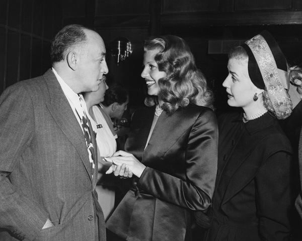 "Harry Cohn with his ""love goddess,"" Rita Hayworth, 1940s"