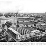 Augsburger Kammgarnspinnerei (worsted yarn spinning mill), 1913