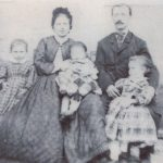 Henry Oppenheimer, along with his parents and two of his sisters in 1866