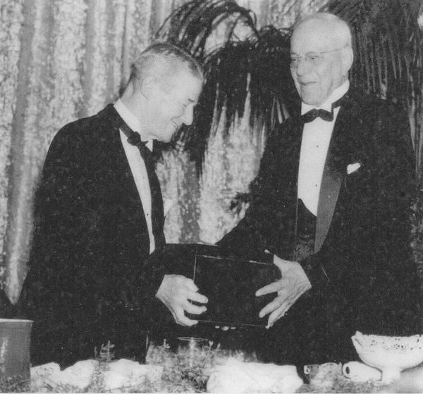 Henry Oppenheimer honored at the Baltimore Retail Merchants' Association Banquet, 1942