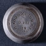 Die for stamping $5 Bechtler coins, ca. 1840-1850