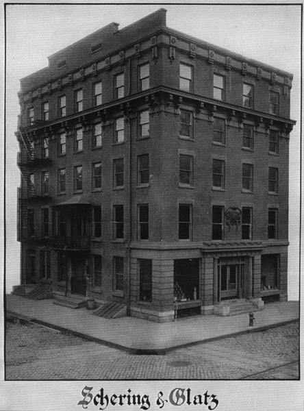 The building that housed Schering & Glatz's New York City office
