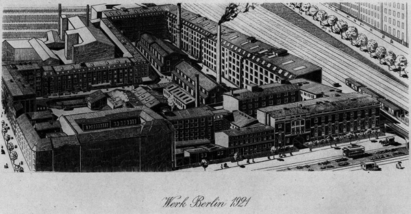 The plant of the Chemische Fabrik auf Actien (vorm. E. Schering) in Wedding, Berlin, 1921.