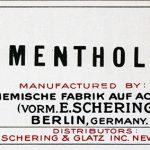 Schering Menthol Product Label