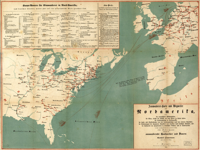Emigrant Map and Directory to North America