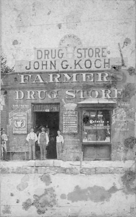 Farmer's Drug Store, ca 1892