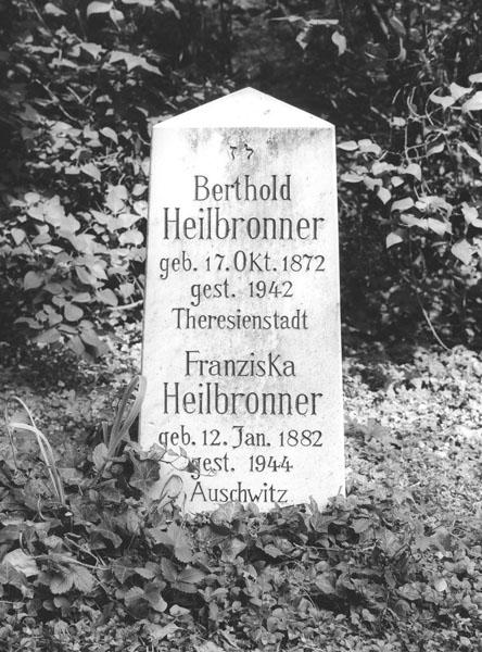 Memorial Headstone for Berthold and Franziska Heilbronner