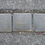 Stolpersteine in memory of Berthold, Franziska, and Friederike Heilbronner