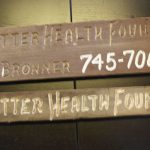 """Better Health Found."" Sign at Emanuel Bronner's Home in Escondido, n.d."
