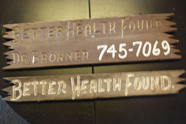 """""""Better Health Found."""" Sign at Emanuel Bronner's Home in Escondido, n.d."""