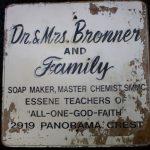 Sign at Emanuel Bronner's Home in Escondido, n.d