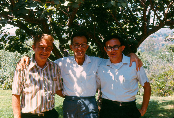 Emanuel Bronner with his Sons Ralph and Jim, ca. 1990