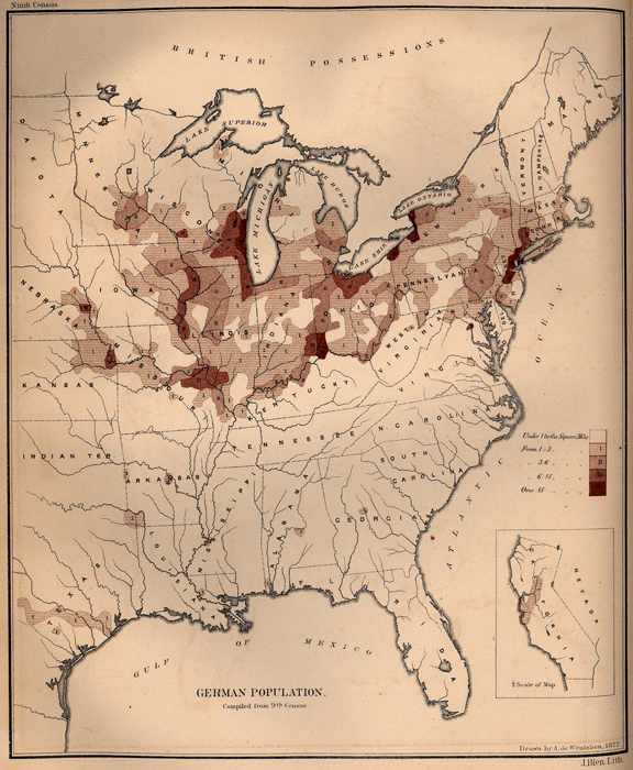 German Population of the United States, 1872