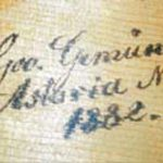 George Gemünder signature from one of his violins, 1882