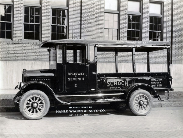 The Andrew Schoch Grocery Co. delivery truck, ca. 1920