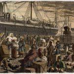German Emigrants Boarding in Bremerhaven