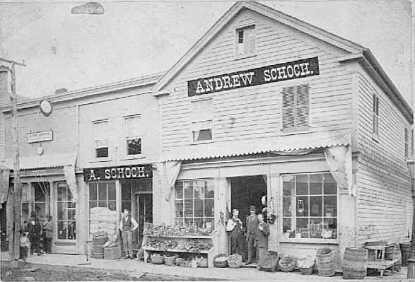 Andrew Schoch Grocery, 282 East Seventh, St. Paul., MN, 1881