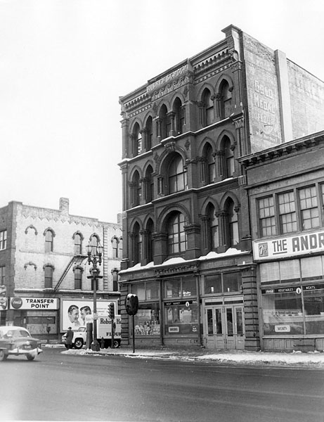 Andrew Schoch Block, East Seventh and Broadway, St. Paul, MN, 1955