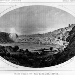 Great Falls on the Missouri River in Great Falls, MT, ca. 1853-56.