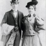 Carl and Adeline Loeb as newlyweds, 1896