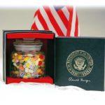 Ronald Reagan Presidential Seal Jelly Belly Bean Jar